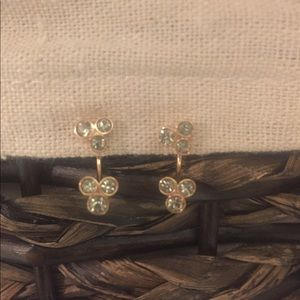 Fossil Rose Gold Earrings with Jackets